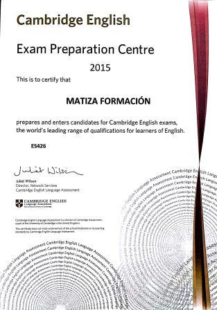 MATIZA FORMACION CAMBRIDGE ENGLISH EXAM PREPARATION CENTRE